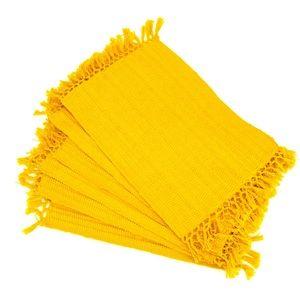 Sur La Table | Six Sunshine Yellow Woven Placemats